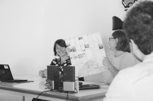 Rencontre avec Aude Joly et Isabelle Saussole-Guignard, Université d'Avignon, 21/09/15, ©Muséocom - Camille Béguin