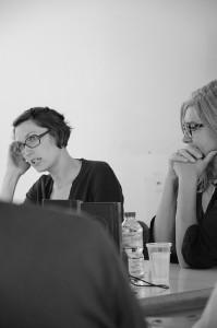Rencontre avec Nelly Lafont et EstelleRouquette, Université d'Avignon, 23/09/15, ©Muséocom - Camille Béguin