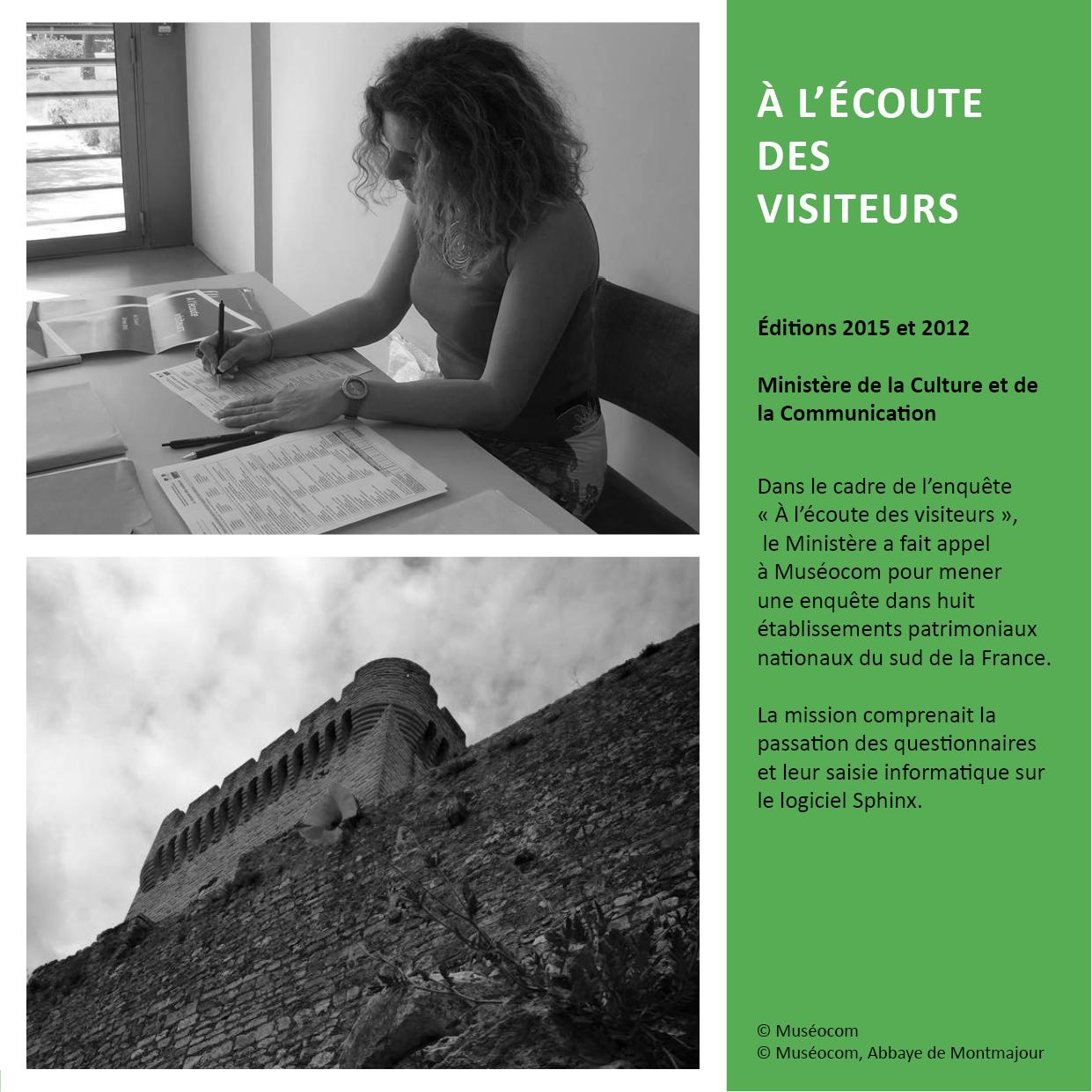 A L'ECOUTE DES VISITEURS