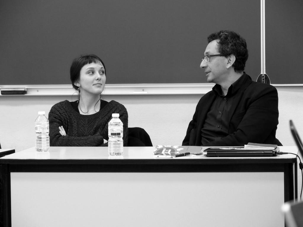 Rencontre avec Lisa Jacquemin et Laurent Chicoineau, Université d'Avignon, 27/01/16, ©Muséocom – Alice Bachmann
