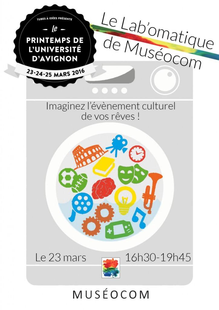 Affiche Le Labomatique de Muséocom ©Muséocom
