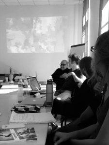 Alain Batifoulier et Samusl Bester aux Rencontres professionnelles, Université d'Avignon – 05/10/2016 ©Muséocom – Léa Muron