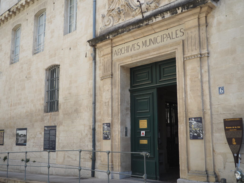 Les Archives municipales d'Avignon © Anna Furget